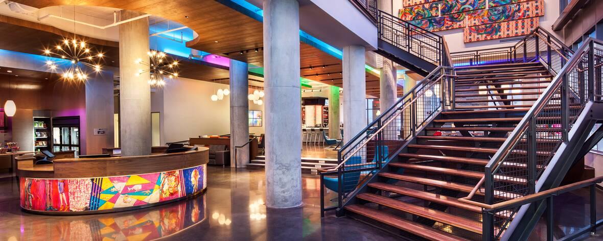 Aloft Boston Seaport District Hotel Lobby